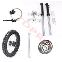 "Triple Tree Clamps Front Forks 14"" Front Wheels Axle Brake Assembly CRF50 Apollo"