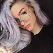 Classic Women Men Metal Frame Clear Round Lens Glasses Nerd Spectacles Eyeglass