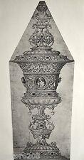 GRAVURE 1886 Coupe Jeanne Seymour Hans Holbein Goupil Imp Eudes 33,5x12cm L'Art