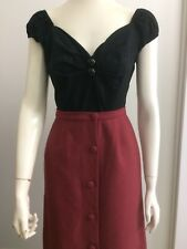 Original Vintage 50s 60s Pencil Wiggle Skirt , Pinup Rockabilly