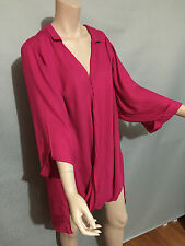 BNWT Womens Sz 22 Autograph Brand Fuschia Pink Cover Up Wrap Jacket RRP $60