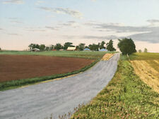 """GEORGE ATKINSON SIGNED PASTEL ON PAPER DRAWING """"EARLY MORNING ELKHART"""" 1988"""