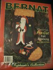 "Bernat ""Santa Stocking"" Felt Applique Kit Size 18"" Diameter"