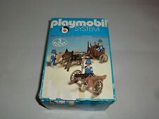 Playmobil System 3244 Nordstattler mit Protze Kutsche Kanone Pferd in Ovp