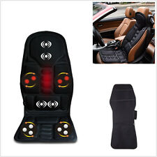 Black Car Autos Seats Chair Back Massage Heated Cushion Pad Neck Pain Lumbar Mat