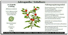 Ashwagandha / Withania, 300 Kapseln á 550 mg, (withania somnifera) - 100 % vegan