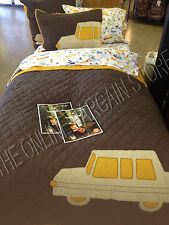 Pottery Barn Kids In Car Service Truck Full Queen F/Q Quilt 2 shams repair shop