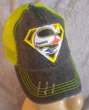 Pittsburgh Steelers Distressed Neon Yellow Mesh Low Profile Trucker Hat/Cap