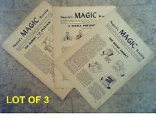 Magician's tricks and secrets illus: lot of 3, 1948, 1952 HUGARD'S MAGIC MONTHLY