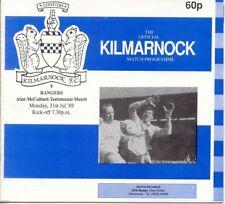 Kilmarnock v Rangers - McCulloch Testimonial - 1989/90