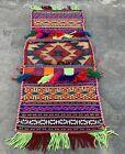 Hand Woven Made Afghan Khurjeen Saddle Bag Wall Hanging Area Rug 2.5 x 1.0 Ft