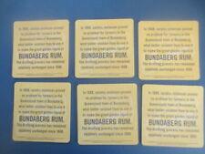 "6 x  BUNDABERG RUM 2006 Australian Issue  COASTERS  "" In 1888 surplus..."