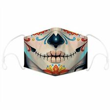 Gothic Tattoo Scary Creepy Sewing Smile Design Face Cover Mouth Mask w. 2 Filter