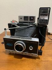 Polaroid 450 Automatic Land Camera with Case, Flash, Self Timer And Leather BAG