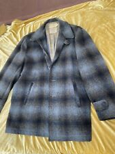 New listing Vintage 1950's Plaid Fine Wool Cashmere Mens Coat Jacket By Schuster - Xl