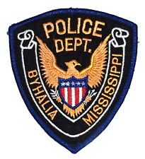 BYHALIA MISSISSIPPI MS Police Sheriff Patch STATE SEAL GOLDEN EAGLE SHIELD USED