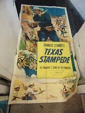 Charles Starrett Texas Stampede Original 3-Sheet Movie Poster #N1319
