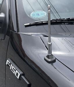 "2004-2017 Ford F-150 Chrome Bulldog Billet Aluminum 8"" Short Radio Antenna"