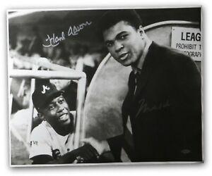 Muhammad Ali Hank Aaron Signed Autographed 16X20 Photo Braves Vintage Steiner A