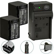 BM NP-FV70 2 Batteries & Charger for Sony FDR-AX33 AX53 AX100 AX700 PJ230 PJ380