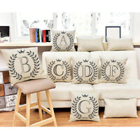 Fashion Letters Cotton Linen Cushion Cover Throw Pillow Case Sofa Home Decor