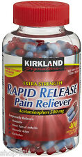 Kirkland Signature Extra Strength Rapid Release Acetaminophen 400 Gelcaps 500 mg