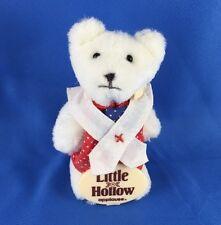 "VERY NICE Vintage Teddy Bear Plush Applause Rare White Liza Little Hollow 3"" 3.5"