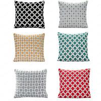 "BERKELEY Geometric Thick Chenille Modern Cushion Cover 18"" x 18"" & 22"" x 22"""