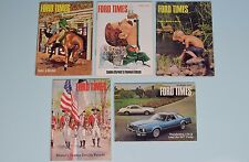 Vintage Ford Times Magazine Lot Of Five Back Issues 1970s Bicentennial Mustang