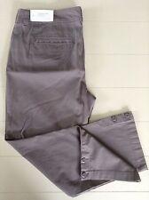 New Ann Taylor LOFT Capri/Crop Pant Gray Size 6 Cotton Blend Casual Flat Front