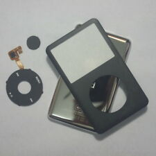 Black iPod Classic 80GB 120GB 160GB 128GB 256GB front+ clickwheel+back cover kit