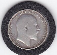 1908   King  Edward  VII  Sterling  Silver  Shilling  British Coin