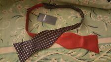 NEW  Cremieux Men's 100% Silk $49 Red Blue Stars Bow Tie Adjustable Patriotic