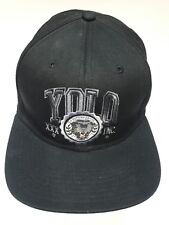 10.DEEP Yolo XXX Inc. Snapback Hat (Black) Men's