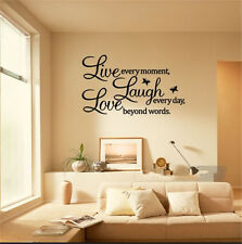 PVC LIVE LAUGH LOVE Words Removable Room Vinyl Art Mural DIY Wall Sticker Decal