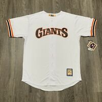 NEW Majestic San Francisco Giants Jersey Mens XL Tall White Coolbase Cooperstown