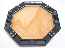 Gaming Dice Tray ~ Wooden Octagon with Laser Etched Border by C4Labs