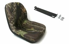 New Camo HIGH BACK SEAT w/ Pivot Rod Bracket John Deere 240 245 260 265 285 320