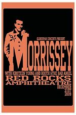 Morrissey  at Red Rocks Amphitheatre  Concert Poster 2009   12x18