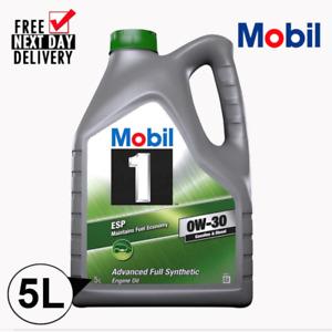 MOBIL 1 ESP 0W30 C3 (153369) 5L *FULLY SYNTHETIC* PORSCHE/MERCEDES ENGINE OIL