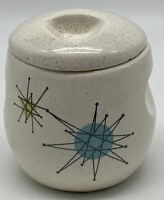 Franciscan Starburst Lidded Sugar Bowl Gladding McBean Pottery MCM USA