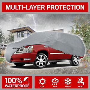 "Motor Trend Outdoor Car Cover for Vans SUVs Up to 225"" inch 100% Waterproof"