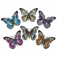 Shudehill Small Metal Butterfly in Purple - Garden Wall Art Ornament Decor