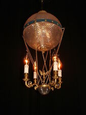 Unique Vintage French bronze Air Balloon Empire style chandelier France