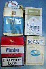 lot 4 paquet de cigarette MARLBORO LIGHTS WINSTON DUCADOS ROYALE ULTRA LEGERE