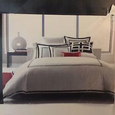 Hotel collection King Black White Tuxedo Duvet Comforter Cover New