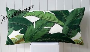 Tommy Bahama Indoor/Outdoor Swaying Palm Tropical Leave Lumbar Cushion Cover