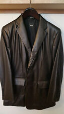Hugo Boss Italian Lamb Nappa Black Leather Jacket   Size: 42R
