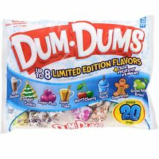 DUM DUMS^ 5.4 oz Bag LIMITED EDITION Lollipop Candy 20 POPS+ Christmas EXP. 9/20