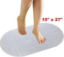 "15"" x 27"" Non Slip Bath Shower Mat Bathtub Mat Pvc Strong Suction"